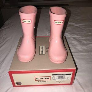 Pink Toddler Girl Hunter Rain Boots